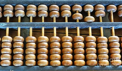 Photograph - Old Chinese Abacus by Yali Shi
