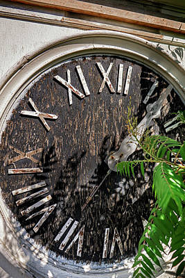 Photograph - Old Clock Abandoned And Grounded by Phil Cardamone