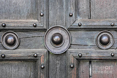 Photograph - Old Door Detail by Elena Elisseeva