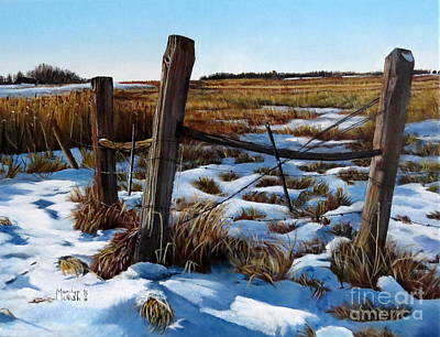 Painting - 3 Old Posts 2  by Marilyn McNish