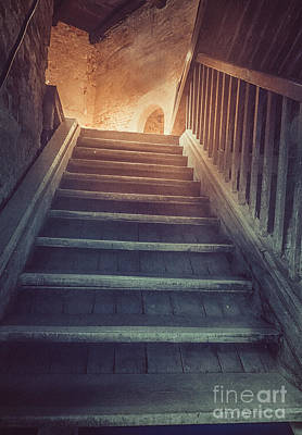 Old Stairs Art Print by Mythja Photography