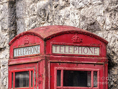 Photograph - Old Telephone Box by Jim Orr