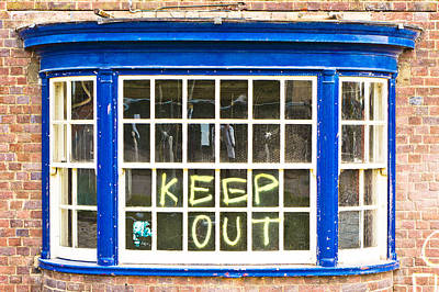 Building Feature Photograph - Old Window  by Tom Gowanlock