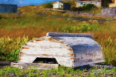 Photograph - Old Wooden Boat by Les Palenik