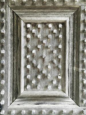 Rivets Photograph - Old Wooden Door by Tom Gowanlock