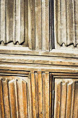 Old Wooden Panels Art Print by Tom Gowanlock
