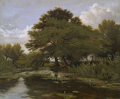 Painting - On The Isis, Waterperry, Oxfordshire by William Alfred Delamotte
