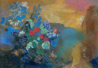 Ophelia Painting - Ophelia Among The Flowers by Odilon Redon
