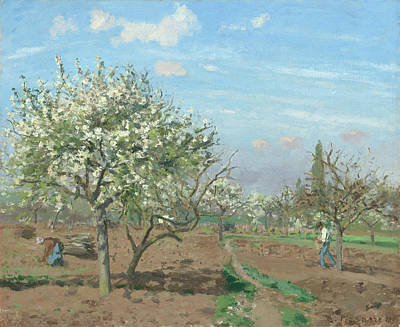 Painting - Orchard In Bloom by Camille Pissarro