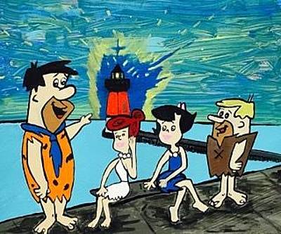 Painting - Original Flintstone Paintings For Sale by Jonathon Hansen