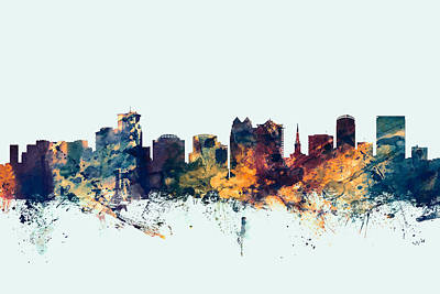 Cityscape Digital Art - Orlando Florida Skyline by Michael Tompsett