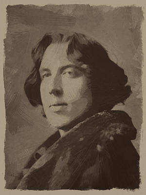 Oscar Painting - Oscar Wilde 2 by Afterdarkness