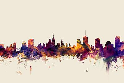 Canada Digital Art - Ottawa Canada Skyline by Michael Tompsett