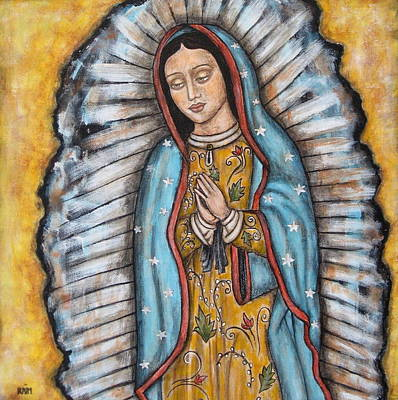 Virgen Mary Painting - Our Lady Of Guadalupe by Rain Ririn