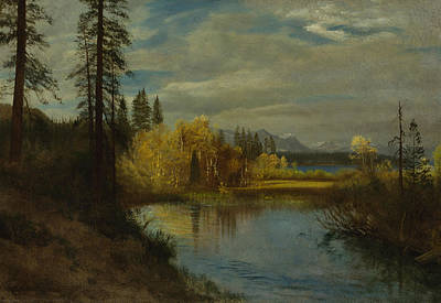 Lake Tahoe Painting - Outlet At Lake Tahoe by Albert Bierstadt