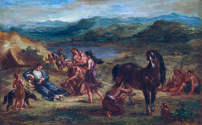 Delacroix Painting - Ovid Among The Scythians by Eugene Delacroix