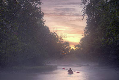 Ps I Love You - Paddling in mist by Robert Charity