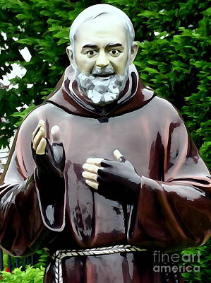 Digital Art - Padre Pio by Ed Weidman