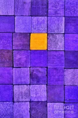 Block Painting - Painting Of Handicraft Cubes by George Atsametakis