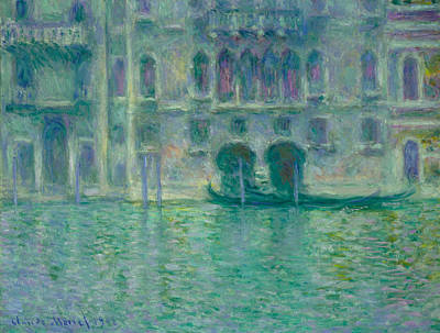 Townscape Painting - Palazzo Da Mula, Venice by Claude Monet