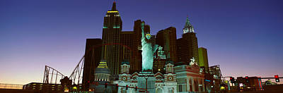 Statue Of Liberty Replica Photograph - Panoramic View Of New York New York by Panoramic Images