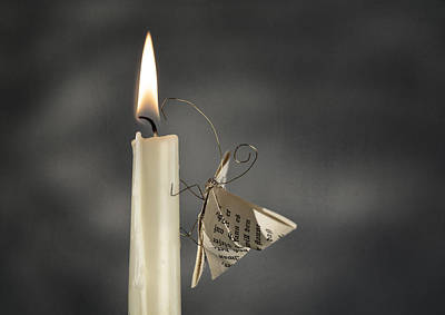 Candles Photograph - Paper Butterfly by Nailia Schwarz
