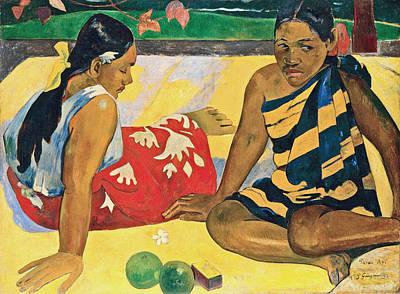 Painting - Parau Api What News by Paul Gauguin