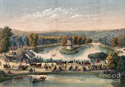 Drawing - Paris, Bois De Boulogne.  by Granger