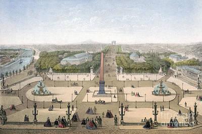 Drawing - Paris, Place De La Concorde by Granger