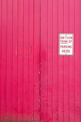 Parking Sign Art Print