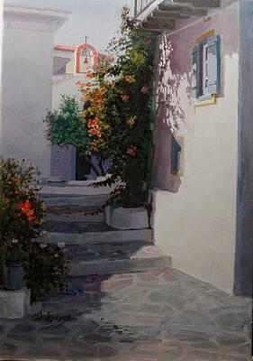 Painting - Parros-greece by Demetrios Vlachos