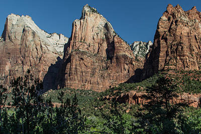 Photograph - 3 Peaks In Zion  by John McGraw