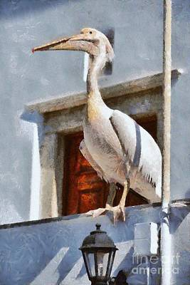 Portrait Painting - Pelican by George Atsametakis