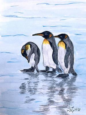 Painting - Three Amigos  by Wonju Hulse
