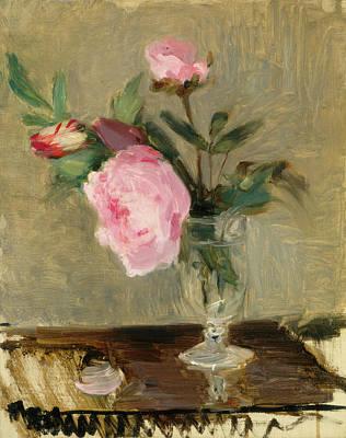 Painting - Peonies by Berthe Morisot