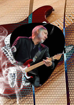 Musician Mixed Media - Pete Townshend Art by Marvin Blaine