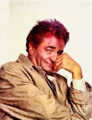 Musicians Royalty Free Images - Peter Falk, Columbo Royalty-Free Image by John Springfield