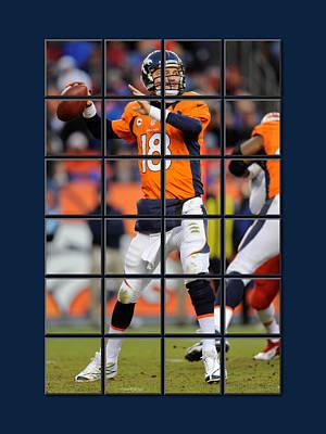 Peyton Manning Photograph - Peyton Manning Broncos by Joe Hamilton