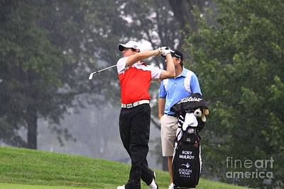 Rory Mcelroy On The Course Art Print