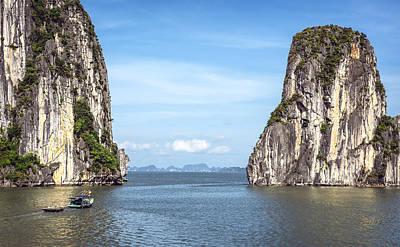 Photograph - Picturesque Sea Landscape. Ha Long Bay, Vietnam by Eduardo Huelin
