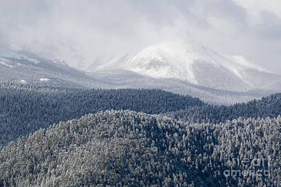Steve Krull Royalty-Free and Rights-Managed Images - Pikes Peak in Snow by Steve Krull