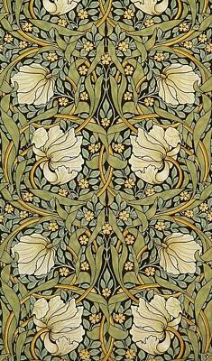 Arts And Crafts Painting - Pimpernel by William Morris
