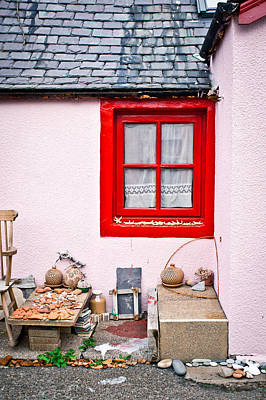 Pink Cottage Art Print by Tom Gowanlock