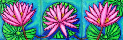 Painting - 3 Pink Gems by Lisa  Lorenz