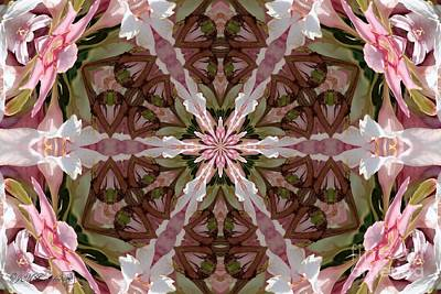 Digital Art - Pink Splash Kaleidoscope by J McCombie