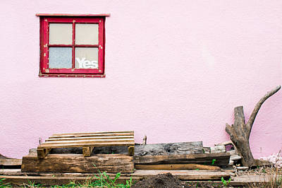 Pink Wall  Art Print by Tom Gowanlock