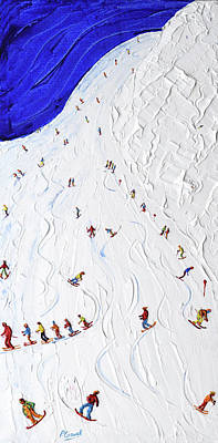 Painting - Piste 14 St Anton by Pete Caswell