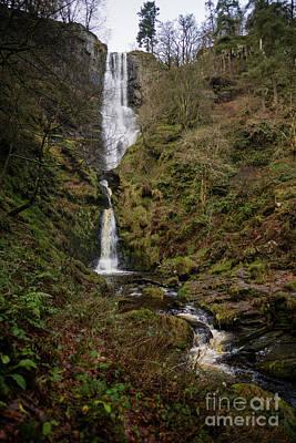 Pistyll Rhaeadr Waterfall, Wales Uk Art Print