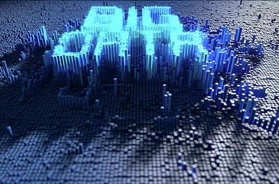 Cyberspace Digital Art - Pixel Big Data Concept by Allan Swart