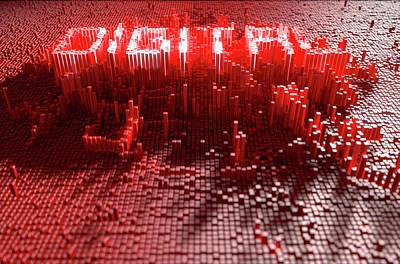 Cyberspace Digital Art - Pixel Digital Concept by Allan Swart
